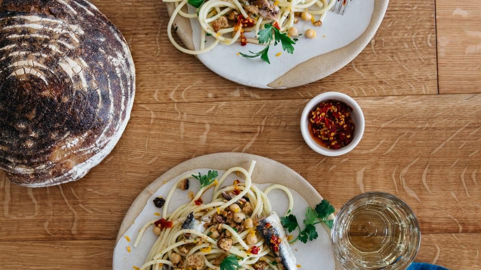 To Make: Bucatini with Sardines, Chilis, Lemon & Garlicky Breadcrumbs