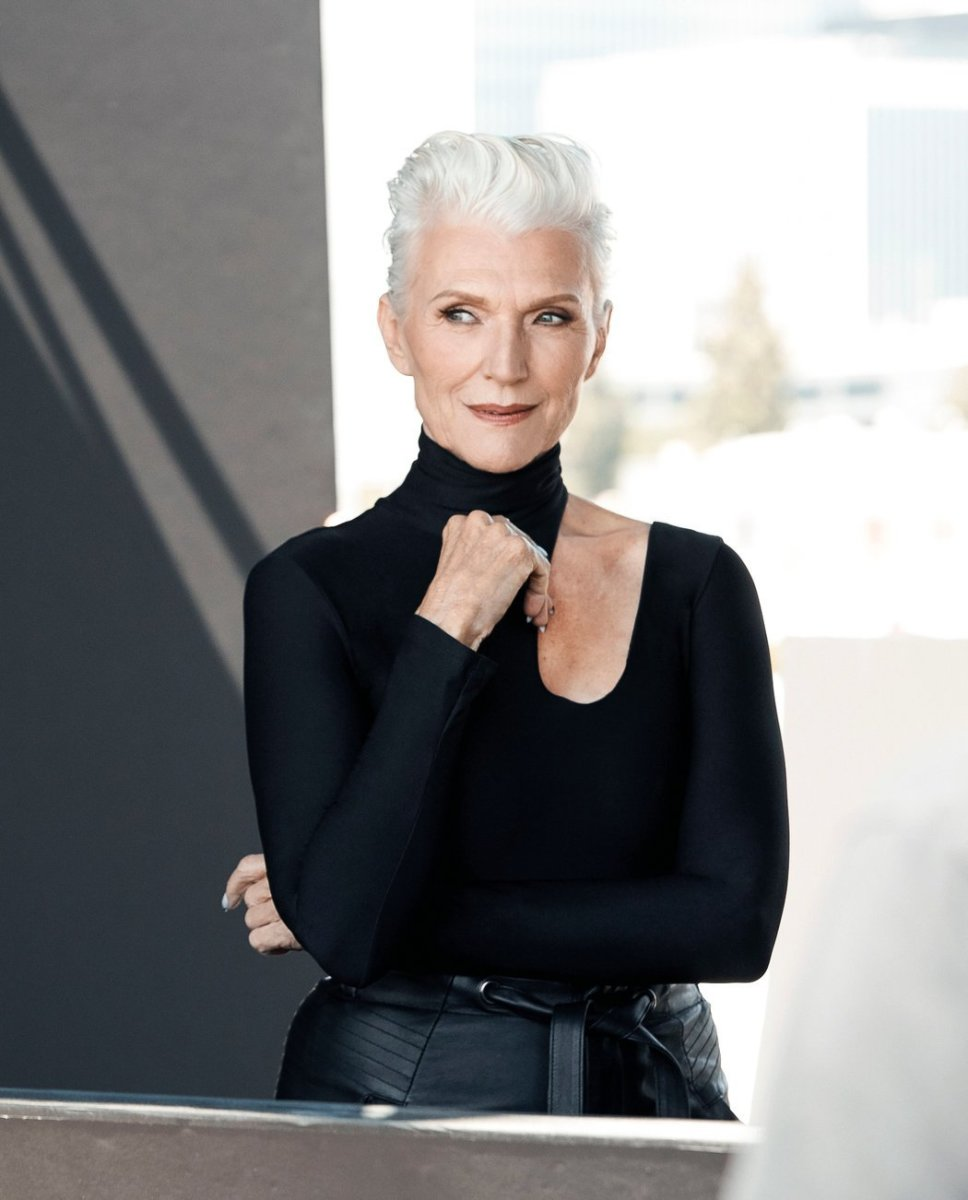 Behind the scenes at Maye Musk's CoverGirl photo shoot. CreditCovergirl via New York Times