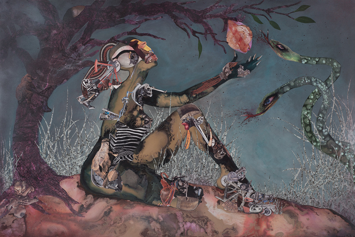 Wangechi Mutu, Forbidden Fruit Picker © 2015 via Oprah