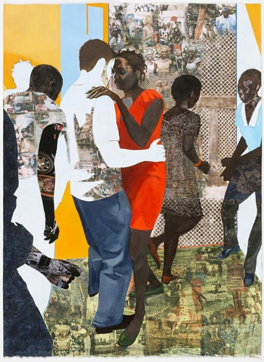 Njideka Akunyili Crosby Efulefu: The Lost One 2011 Acrylic, charcoal, colored pencil, collage and xerox transfers on paper ft.