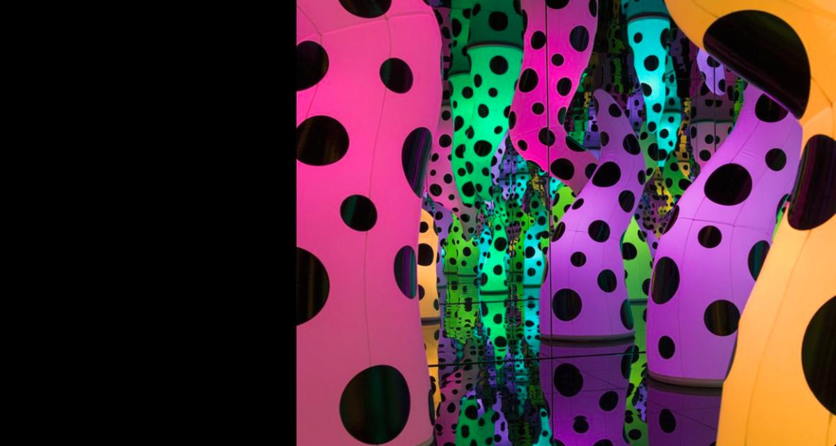 Image ofYayoi Kusama's exhibition Love is Calling atICA's