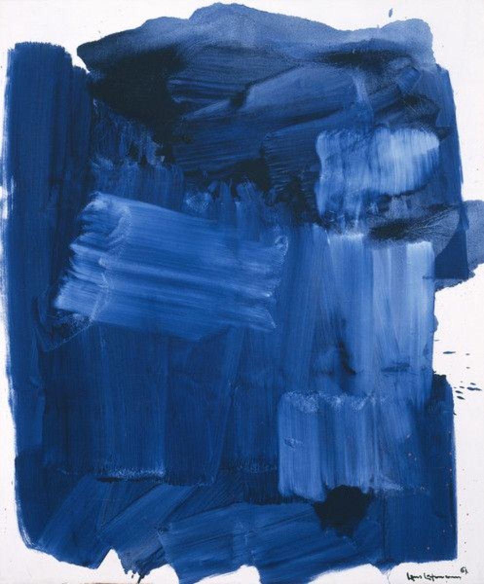 Blue Monolith by Hans Hoffman