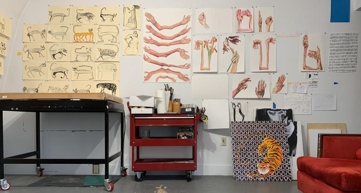 Allison Hester's studio